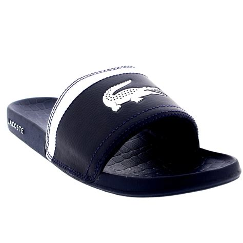 house of fraiser shoes mens lacoste fraiser slides beach synthetic casual holiday