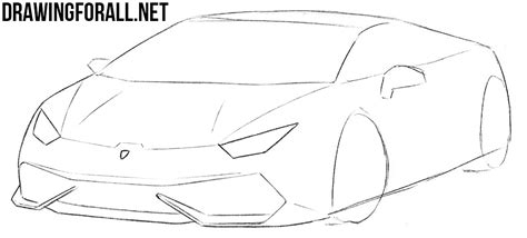 lamborghini huracan sketch how to draw a sports car step by step drawingforall net