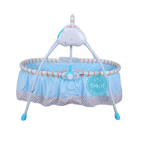 bassinet swing baby a smart automatic glider swing bassinet cradle blue