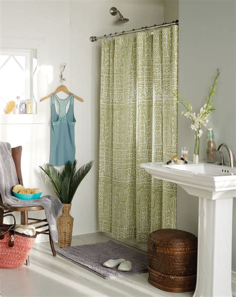Springs Global Curtains Isla Shower Curtain Blissliving Home Easter Island Collection 2012 Bedding More
