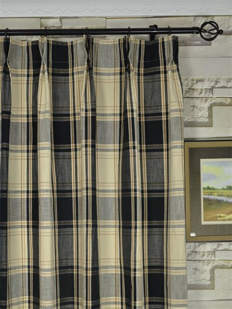 plaid drapery panels timeless look with plaid curtains drapery room ideas