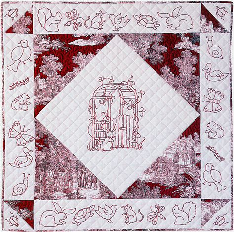 Redwork Quilt by Free Redwork Pattern Friends At Garden Gate Aqs