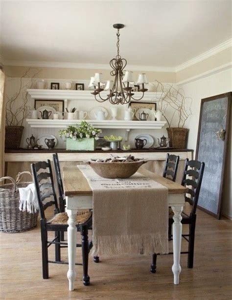 shabby chic dining room tables decorazioni con la juta la figurina