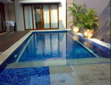 desain model kolam renang  rumah minimalis desain