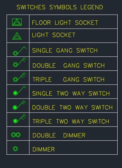 switch symbol  cad block  autocad drawing