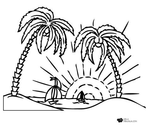 dibujos de islas para colorear isla con palmeras dibujalia dibujos para colorear