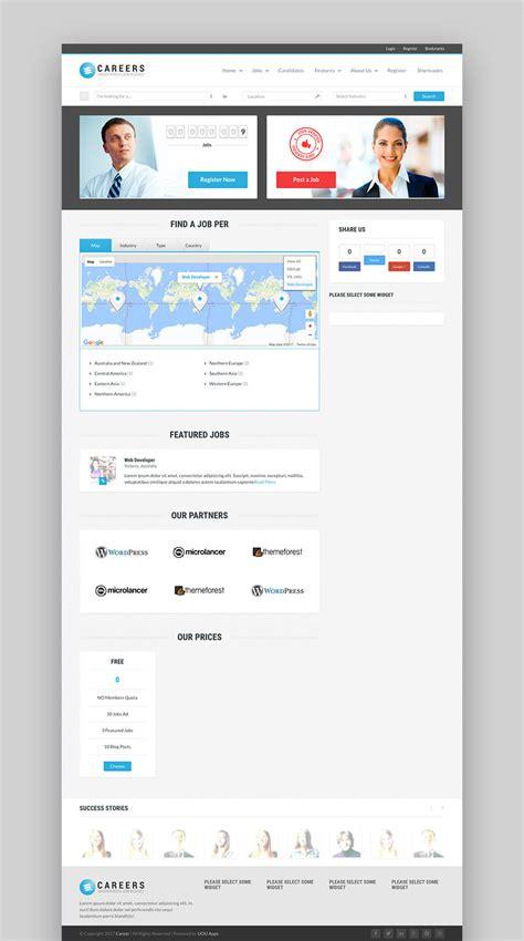 themes wordpress jobs 17 best job board wordpress themes for 2017 listing sites