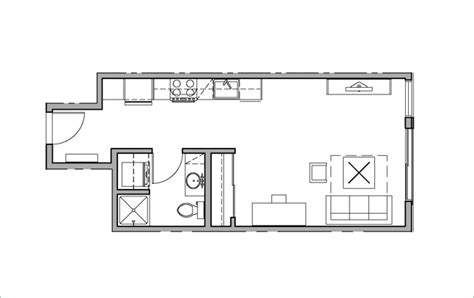 home design for 450 sq ft studio 1 bath h2o apartments seattle