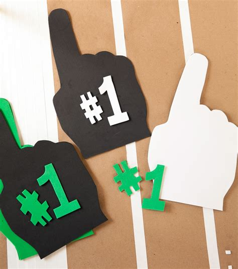 How To Make A Finger Football Out Of Paper - small megaphones for crafts