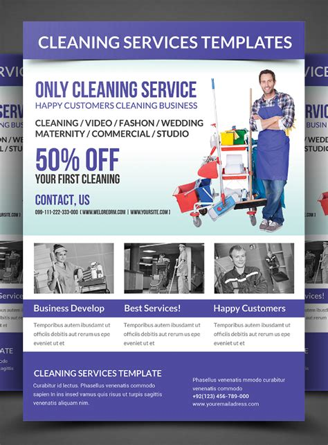 cleaning service brochure templates 25 cleaning flyers psd ai eps