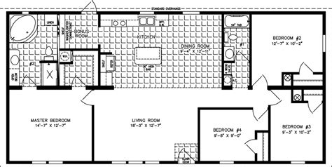 4 Bedroom Mobile Home Floor Plans by Large Manufactured Homes Large Home Floor Plans