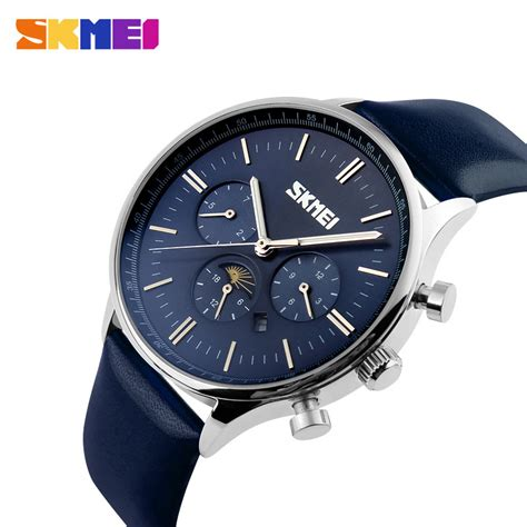 Skmei Fashion Casual Leather 1083 Murah new skmei fashion quartz watches leather fashion casual sport clock top brand