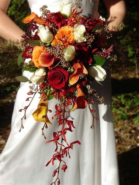 the colors are for a or summer wedding and the cascade style and fluffy