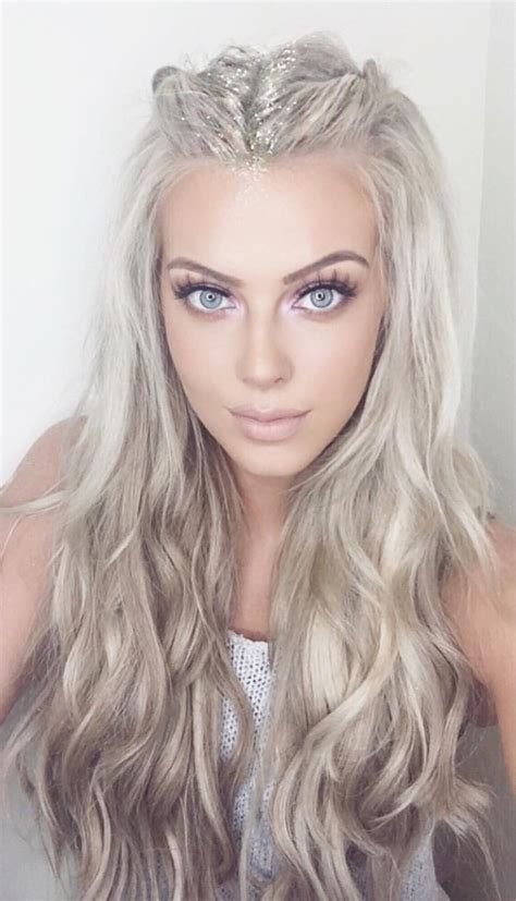 pictures of girl hairstyles with blond on top and dark bottom platinum icy blonde hair pinterest icy blonde