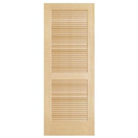 interior wood doors home depot steves sons full louver unfinished pine interior door