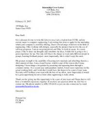 engineering internship cover letter exles vntask