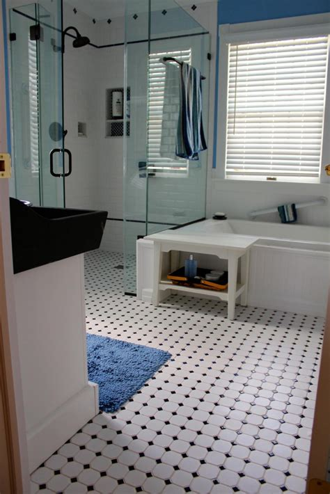 black and white bathroom tile ideas 30 great bathroom glass tile photos and pictures