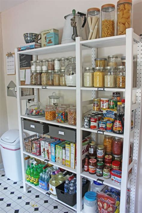 kitchen pantry shelf ideas create an open shelving pantry with ikea shelves hometalk