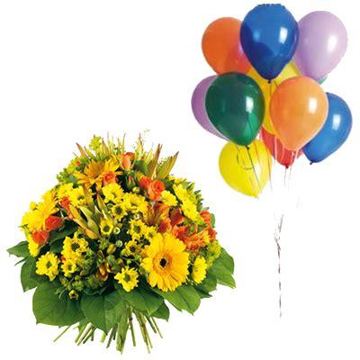 fiori italia italia in fiore invia fiori con 10 palloncini