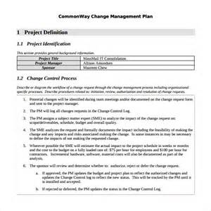 Change Management Plan Template by Sle Change Management Plan Template 9 Free Documents
