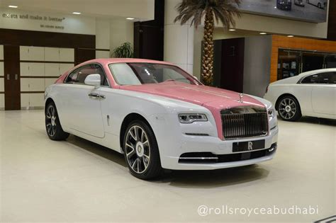roll royce pink s rolls royce wraith awaits in abu dhabi carscoops