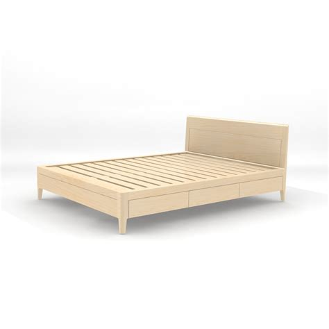 Solid Platform Bed Storage Bed In Solid Maple Platform Bed No 2