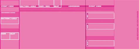 tickets pink by freshtix ticket printing