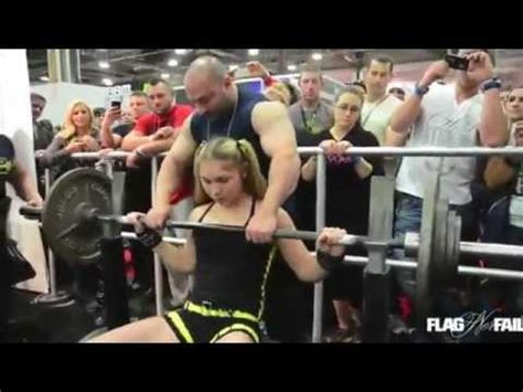 bench press for girls this 13 year old russian girl can bench press 240lb youtube