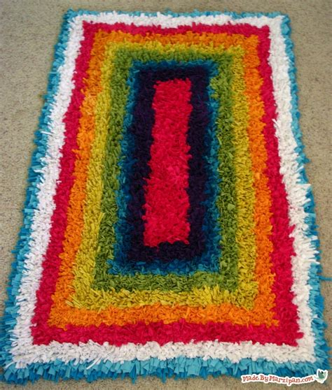 how to finish a latch hook rug upcycled latch hook rug made by marzipan