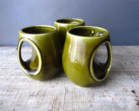 unusual mugs unique ceramic mugs japan green glazed