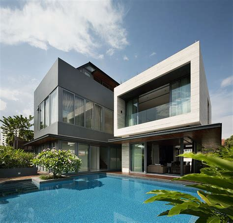 architectural home designs travertine house wallflower architecture design singapore simbiosis news
