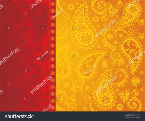yellow indian pattern background traditional indian paisley henna design background stock