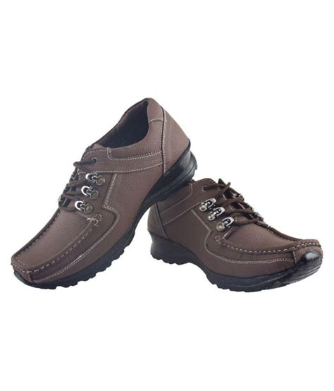 Ss Brown ss shoes brown genuine leather formal shoes price in