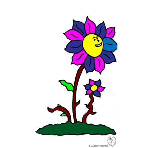 immagini fiori colorati disegno di fiori colorati a colori per bambini