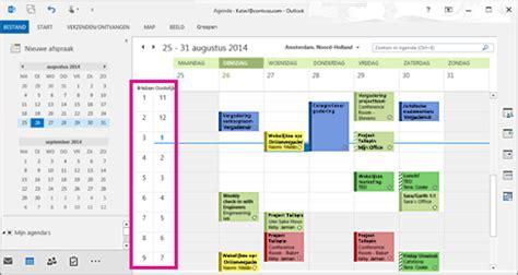 outlook kalender layout de weergave van uw outlook agenda wijzigen outlook