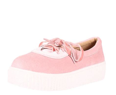 Flat Shoes Sneaker Pink Da2211 imelda336 pink velvet lace up sneaker flat shoes only 10