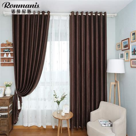 den curtains stylish simplicity of pure brown curtains living room