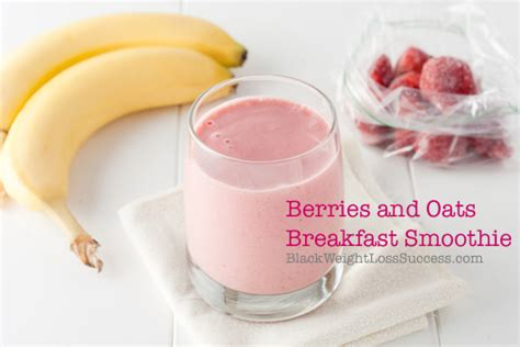 Intermarche Sugar Detox Yogurt Success by Berries And Oats Breakfast Smoothie Black Weight Loss