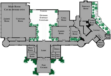 banquet hall floor plan virtual tour of facility landscaped grounds banquet hall