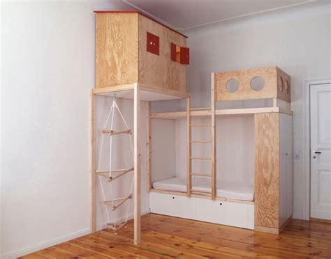 Plywood Bunk Bed Plywood Loft Bed For Home