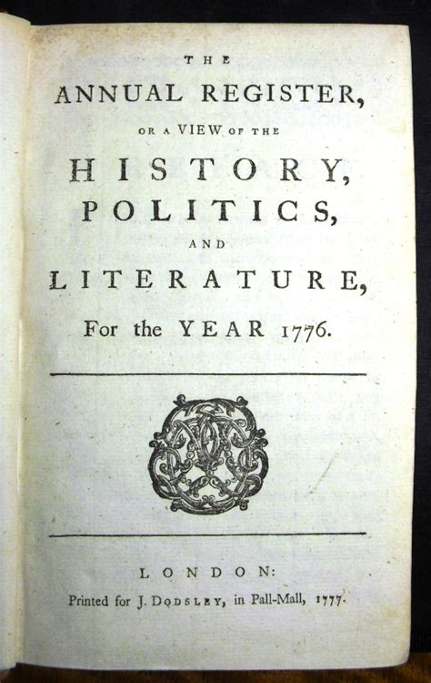 1776 book report 1776 annual register declaration of independence