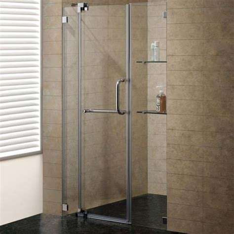 Brushed Nickel Shower Door Vigo 48 Inch Frameless Shower Door 3 8 Quot Clear Glass Brushed Nickel Hardware At Menards