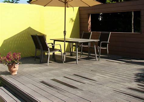 terrasse ölen oder nicht terrassendielen mit gummidichtung und ohne fugen zwischen