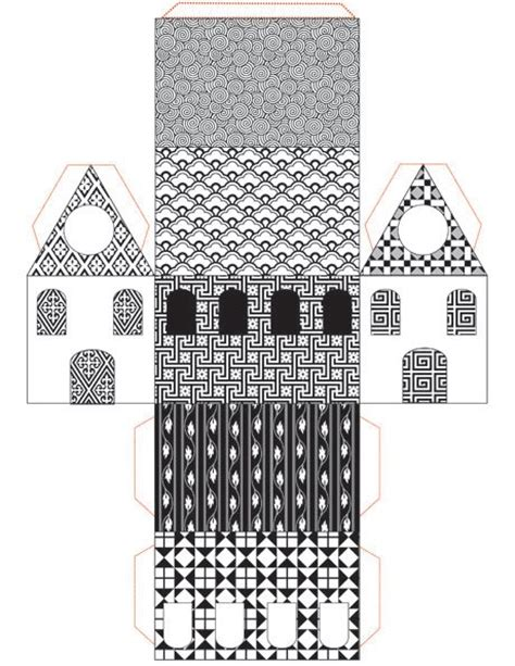 Paper House Craft - print cut paste craft 187 archive 187 free printable