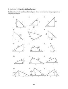 collection of 45 45 90 triangle worksheet ommunist