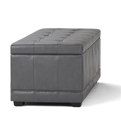 Grey Ottoman Bench Simpli Home Westchester Grey Storage Ottoman Bench 3axcot 246 G The Home Depot