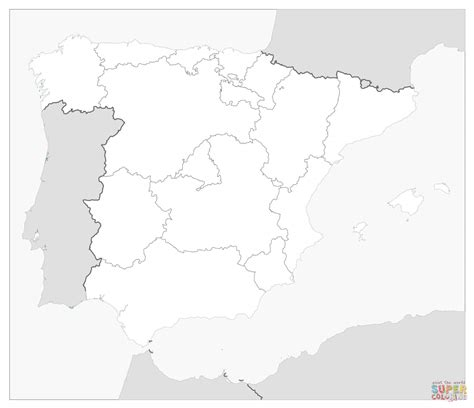 helpful picture set of spain map coloring page proper just