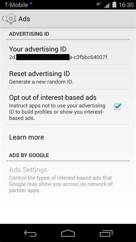 android advertising id android advertising id information from electronics weekly