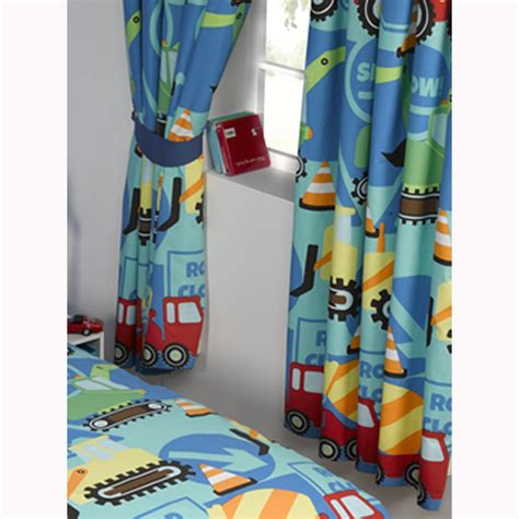 Boys bedroom curtains 66 quot x 72 quot in various designs fully lined with tie backs ebay