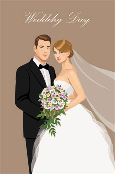 Wedding And Groom Vector by And Groom Wedding Invitation Vectors